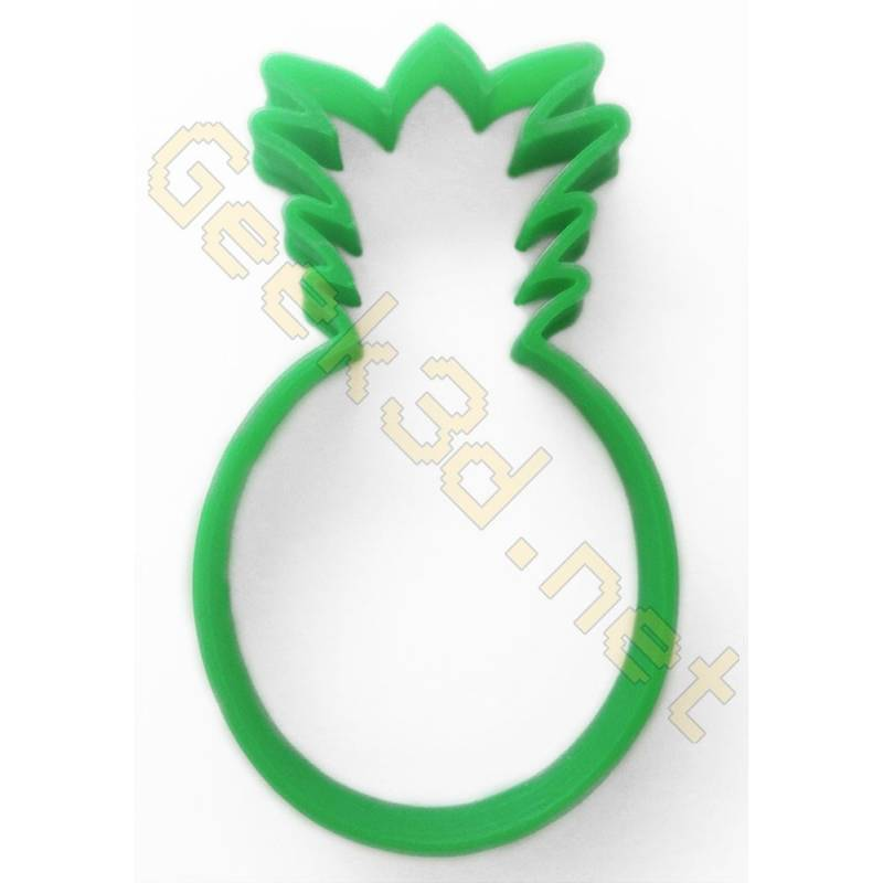 Cookie cutter Pineapple Ananas green