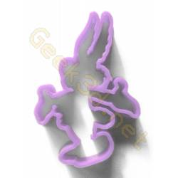 Cookie cutter Asterix purple