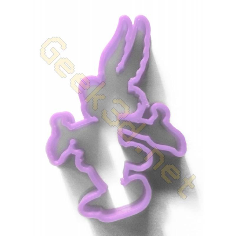 Cookie cutter Asterix purple