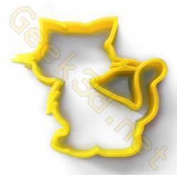 Cookie cutter Cat yellow