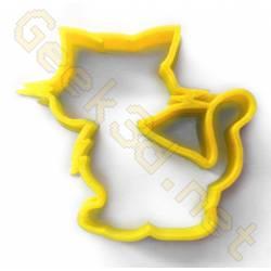 Emporte-pièce chat jaune