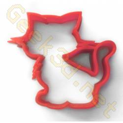 Cookie cutter Cat red