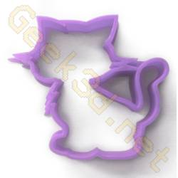 Cookie cutter Cat purple