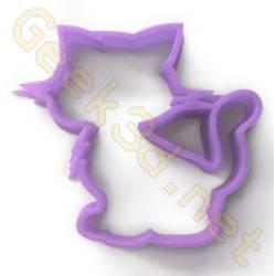 Emporte-pièce chat violet