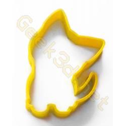 Emporte-pièce chaton jaune