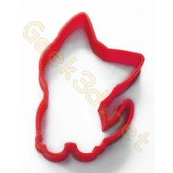 Cookie cutter kitten red