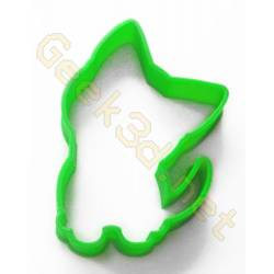 Cookie cutter kitten green