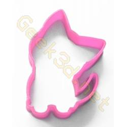 Cookie cutter kitten pink