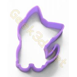 Cookie cutter kitten purple