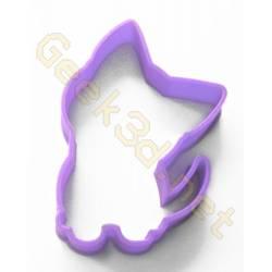 Emporte-pièce chaton violet