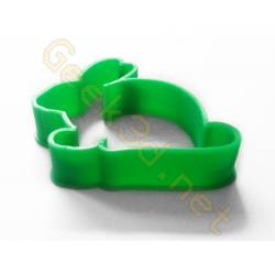 Cookie cutter Rabbit green