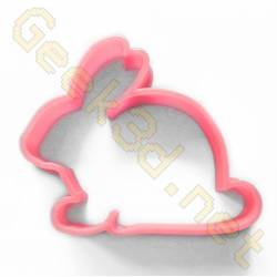 Cookie cutter Rabbit pink