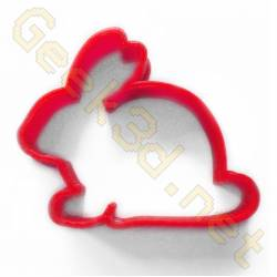 Cookie cutter Rabbit red