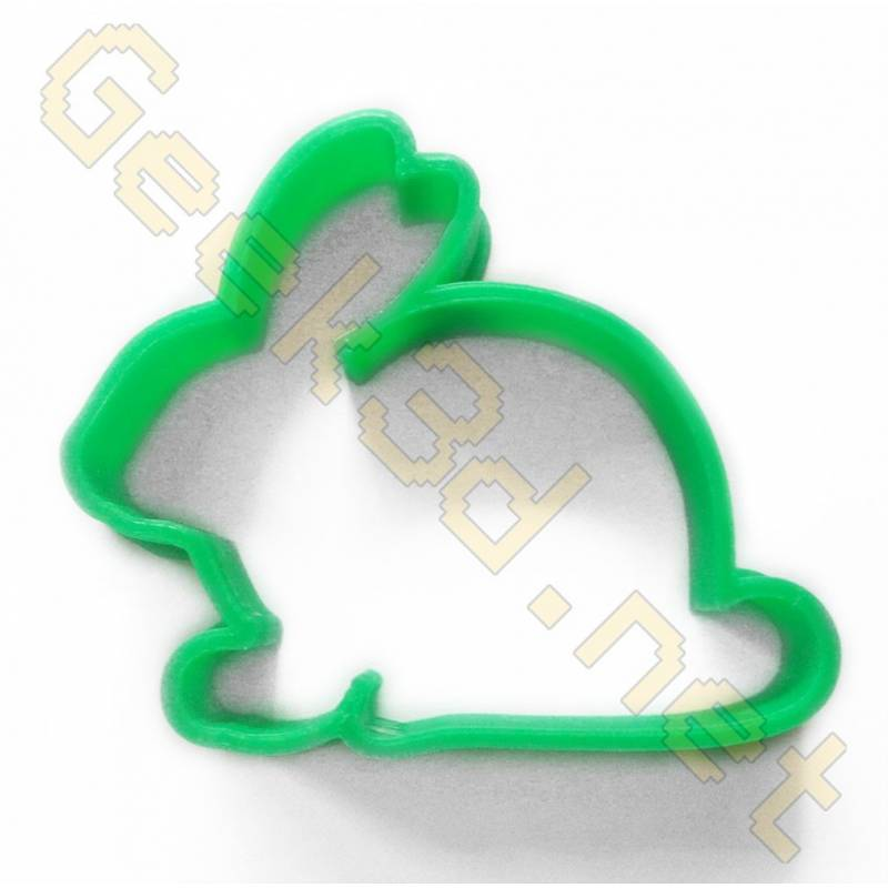 Cookie cutter Rabbit vert