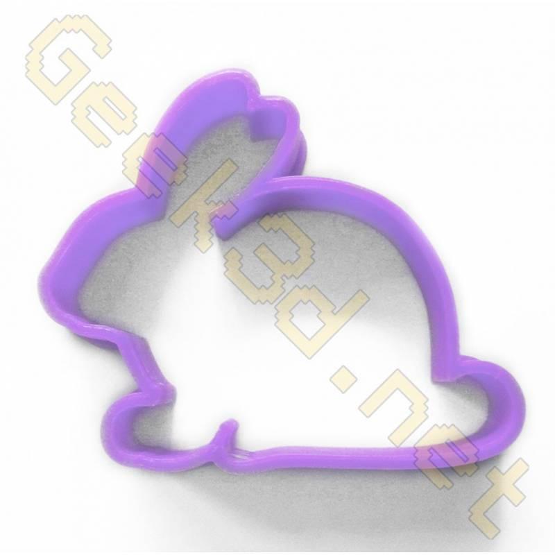 Cookie cutter Rabbit purple