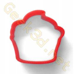 Cookie cutter Cupcake red