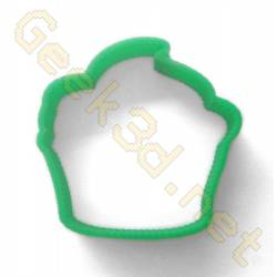 Cookie cutter Cupcake green