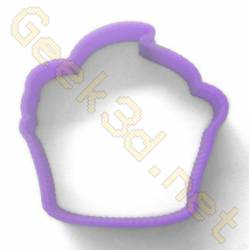 Cookie cutter Cupcake purple