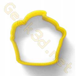 Cookie cutter Cupcake yellow