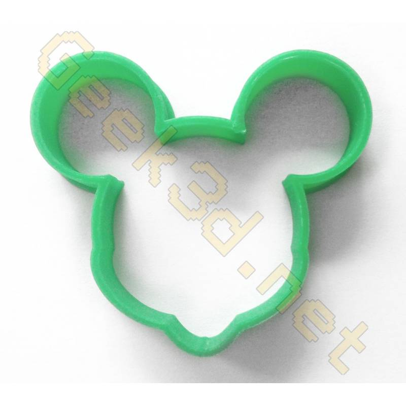Cookie cutter Mickey Mouse green