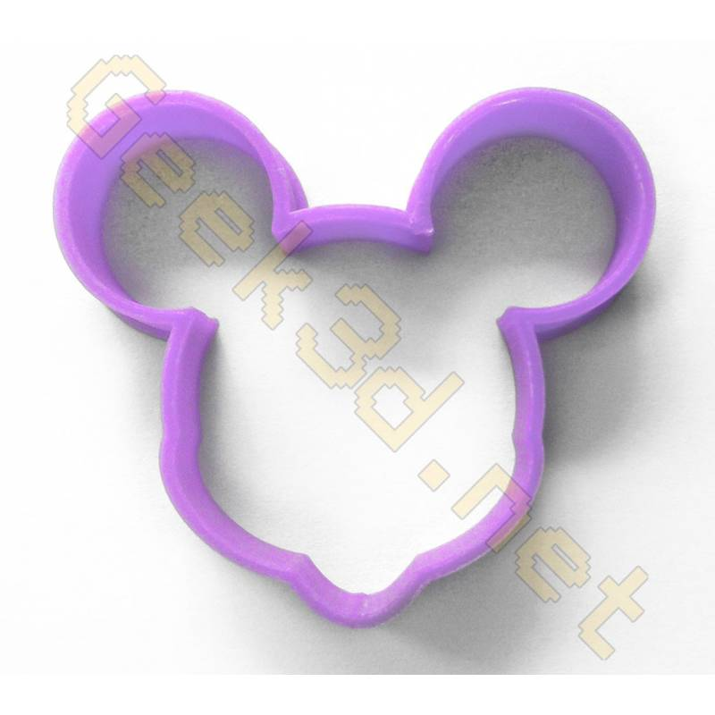 Cookie cutter Minnie Mouse purple