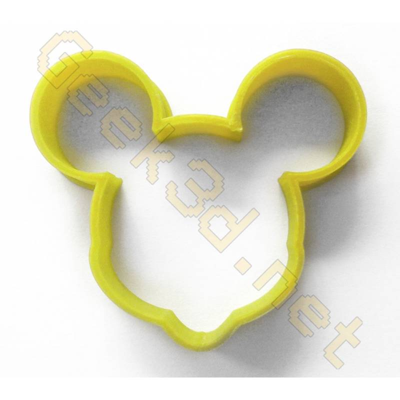 Cookie cutter Mickey Mouse yellow