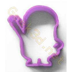 Emporte-pièce Minion violet