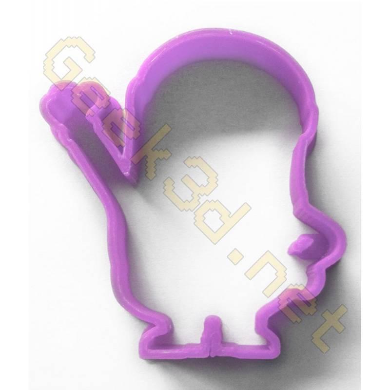Cookie cutter Minion purple