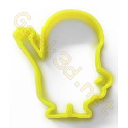 Cookie cutter Minion yellow