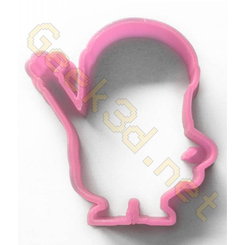Cookie cutter Minion pink