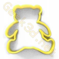 Cookie cutter Teddy bear yellow
