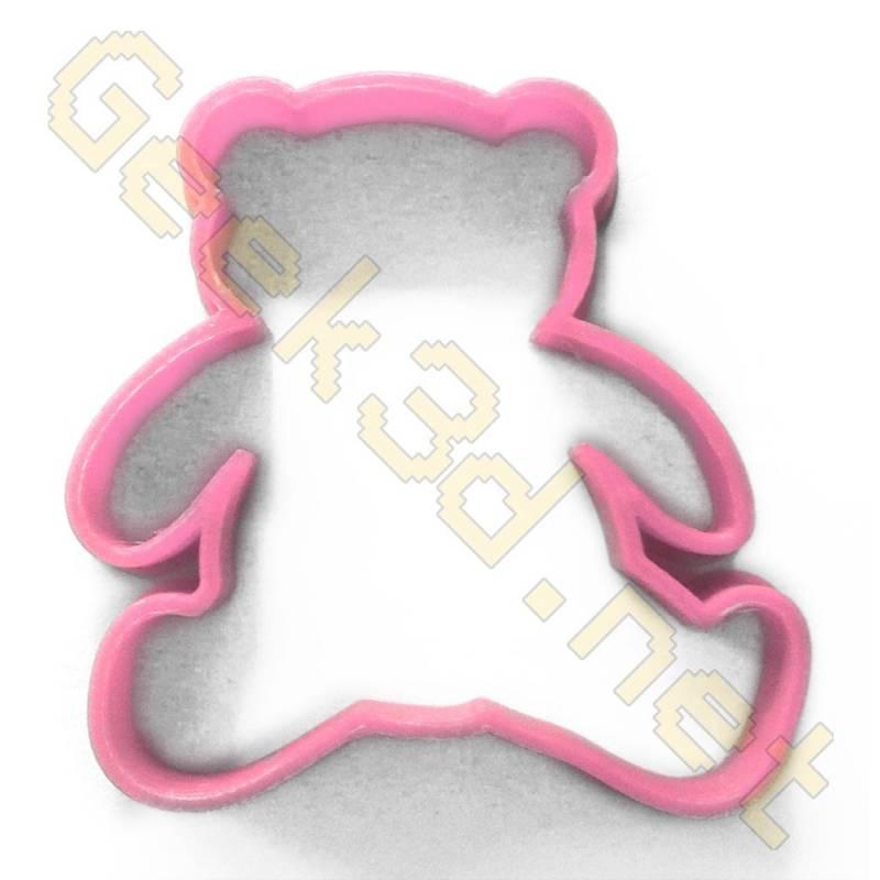 Cookie cutter Teddy bear pink