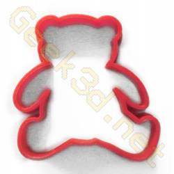 Cookie cutter Teddy bear red