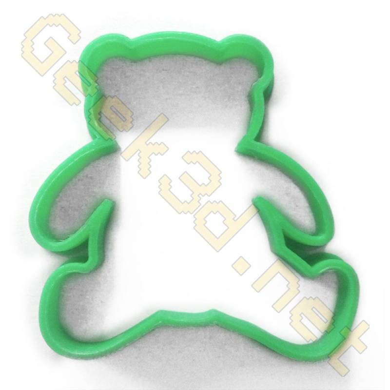Cookie cutter Teddy bear green
