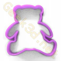 Cookie cutter Teddy bear purple
