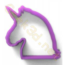 Cookie cutter Unicorn purple