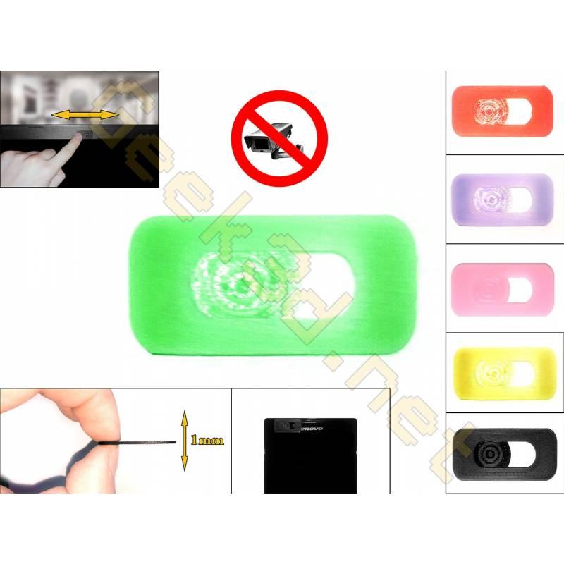 Cache cam noir - cache webcam vert pour pc ultra fin 1mm - couleur au choix