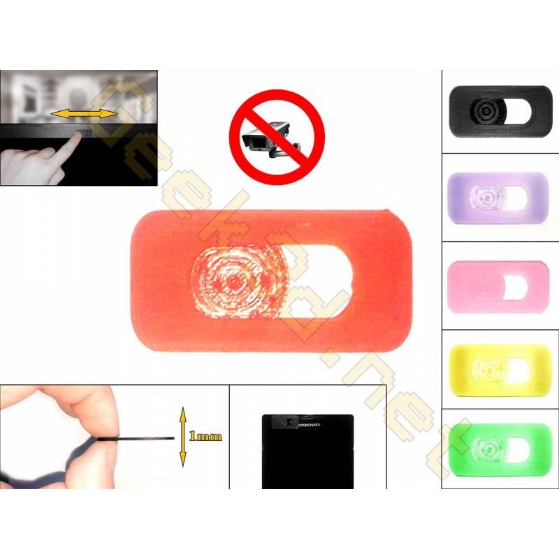 Cache cam noir - cache webcam rouge pour pc ultra fin 1mm - couleur au choix