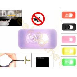 Cache cam noir - cache webcam violet lavande pour pc ultra fin 1mm - couleur au choix