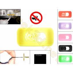 Cache cam noir - cache webcam jaune pour pc ultra fin 1mm - couleur au choix