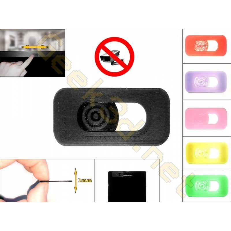 Cache cam noir - cache webcam noir pour pc ultra fin 1mm - couleur au choix