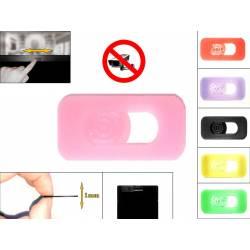 Cache cam noir - cache webcam rose pour pc ultra fin 1mm - couleur au choix