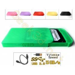Boîtier lecteur disque dur HDD carte SSD vert