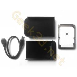 Ecological external hard drive disk pack hdd and black enclosure adaptator USB 3.0