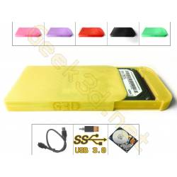 HDD external Hard Drive Disk yellow