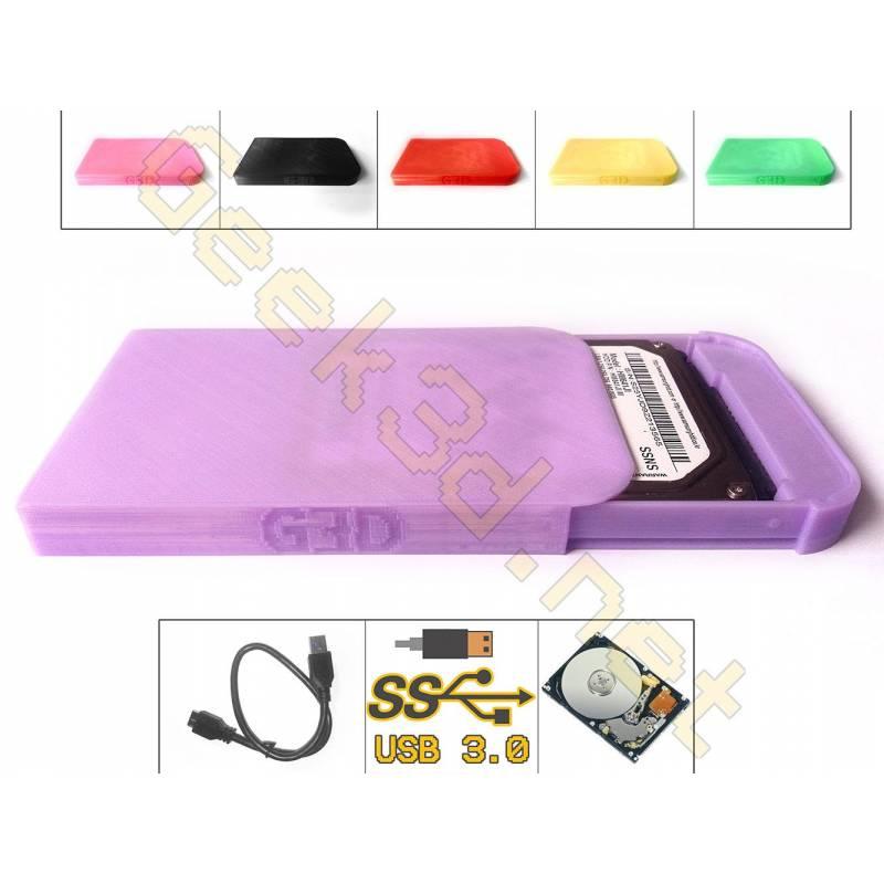 HDD external Hard Drive Disk purple