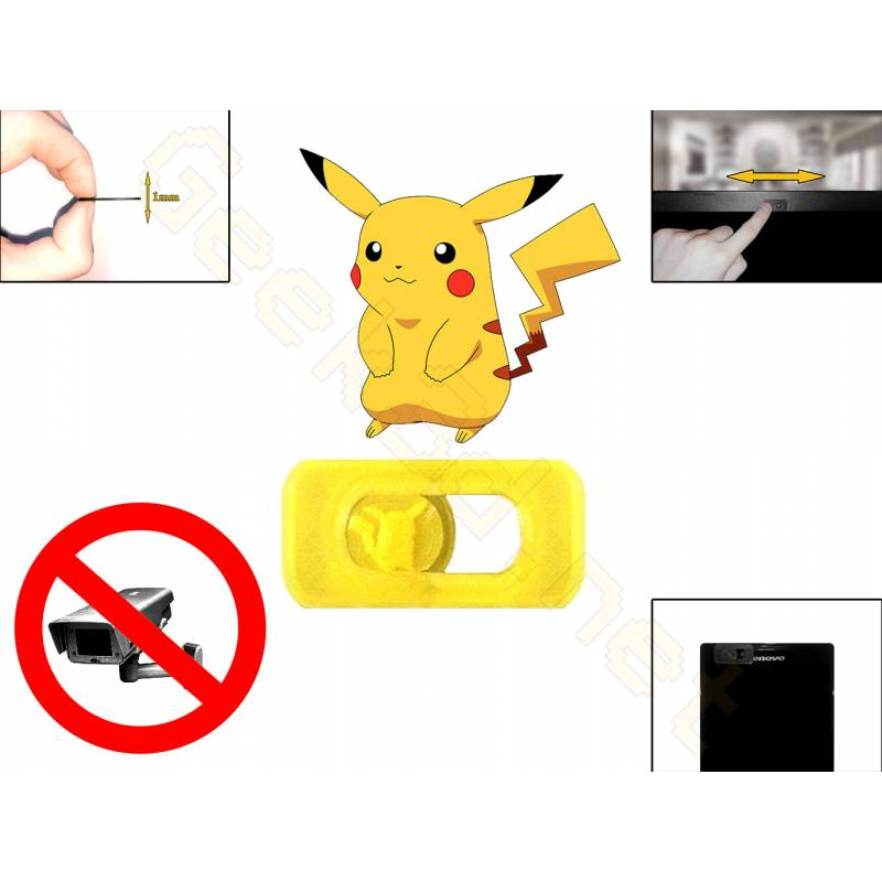 Webcam cover Pikachu Pokémon