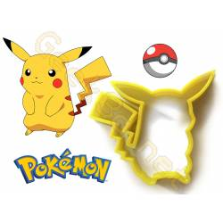 Cookie cutter Pikachu biscuit Pokemon 3d printing